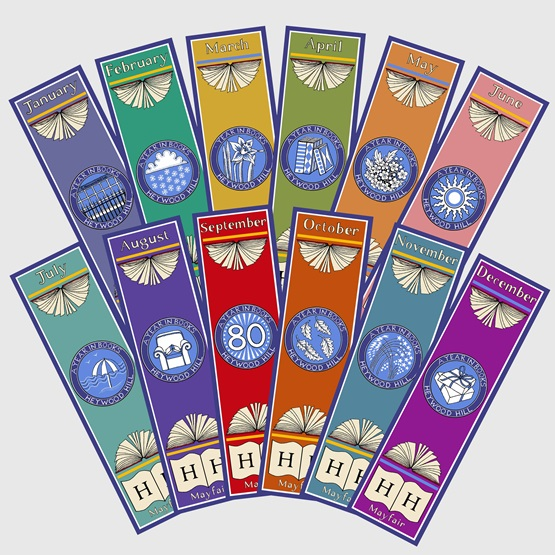Set of 12 Cressida Bell Bookmarks : Set of 12 Cressida Bell Bookmarks