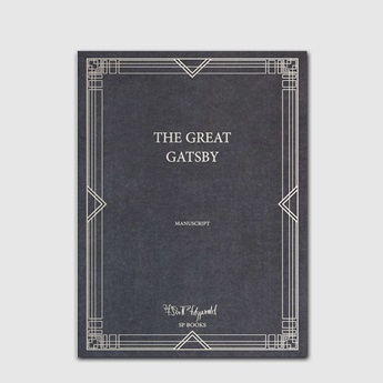 Facsimile of The Great Gatsby Manuscript