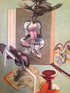 5 works on Francis Bacon - inscribed by the artist